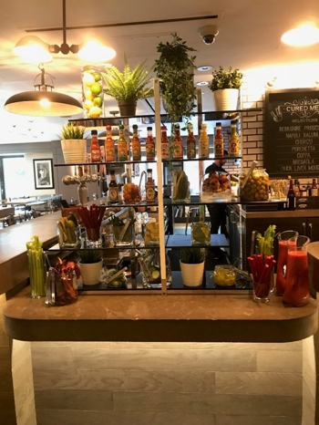 brunchers can adorn their bloody marys with all manner of edible accoutrements from our diy bloody mary bar among the offerings celery for crunch - Kitchen Bar